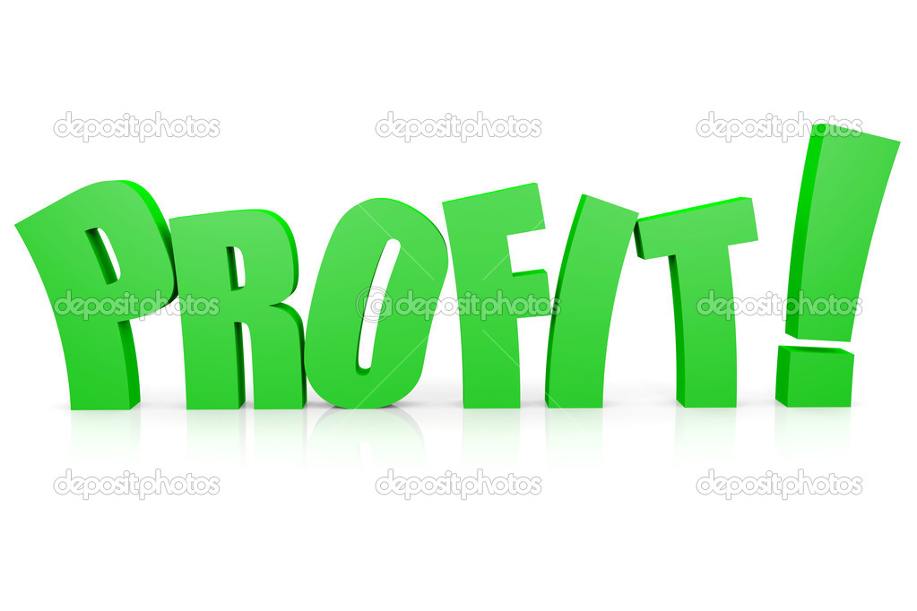 PROFIT 3D text. Computer generated image. — Stock Photo #9248041