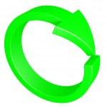 Green arrow. Cycle. — Stock Photo