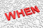 Rode wanneer word rond vragen. — Stockfoto