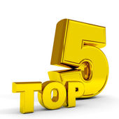 Gold TOP five. — Stock Photo