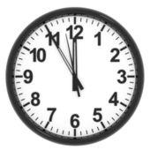 Часы на белом фоне. — Стоковое фото