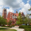 Stock Photo: University of FloridAuditorium and Century tower
