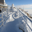 Stock Photo: View on lift-station Lomnicky Stit.
