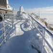 View on the lift-station Lomnicky Stit. - Stock Photo