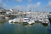 The yachts parking in La Pouliguen, Bretagne, France. — Stock Photo