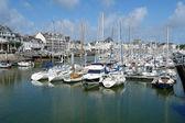 The yachts parking in La Pouliguen, Bretagne, France. — Stock Photo