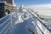 View on the lift-station Lomnicky Stit. — Stock Photo