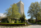 The hotel in Albena. — Stock Photo