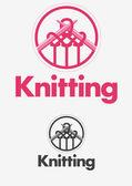 Knitting logo — Stock Vector