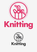 Knitting logo — Stock Vector