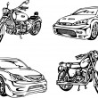 Постер, плакат: Cars and Motorcycles