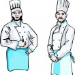 Stock Vector: Two cooks