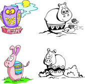 Animal cartoons — Stock Vector