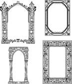 Art Nouveau frames — Stock Vector