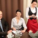 Business meeting executive at restaurant — Stock Photo