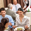 Business lunch restaurant eating meal — Stock Photo