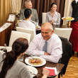 Business lunch restaurant eating meal — Stock Photo #10221064