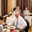 Business lunch restaurant eating meal — Stock Photo #10221072