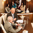 Business coffee break executive business men — Stock Photo