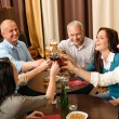 After work happy colleagues enjoy drink — Stock Photo