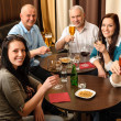 Royalty-Free Stock Photo: Drink after work happy colleagues having fun