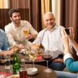 After work drink business colleagues take picture - Stock Photo