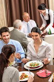 Business-lunch-restaurant essen — Stockfoto