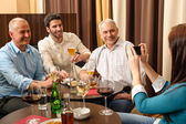 After work drink business colleagues take picture — Stock Photo