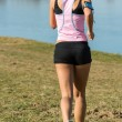 Fitness Female Running Outdoors — Stock Photo #10515900