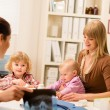 At the pediatrician office mother with baby — Stock Photo