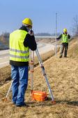 Geodesist 测量土地说话变送器 — 图库照片