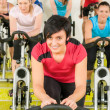Royalty-Free Stock Photo: Spinning class sport exercise at gym
