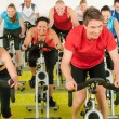 Spinning class sport exercise at gym — Stock Photo #10569948