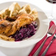 Roasted duck with cabbage and dumpling — Foto de Stock