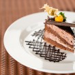 Delicious chocolate cake with physalis - Stock Photo