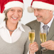 Xmas business toast senior colleagues celebrate — Stock Photo #8036580