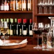 Stock Photo: Wine bar tasting set up tray decoration