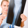 Medical person: Nurse or young doctor female — Stock Photo