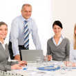 Business team meeting around table — Stock Photo #9036674