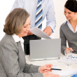 Business team meeting executive senior woman — Stock Photo #9036679