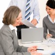 Business team meeting executive senior woman — Stock Photo