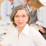 Business team meeting executive senior woman — Stock Photo #9036712
