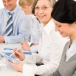 Business team meeting executive senior woman — Stock Photo #9036752