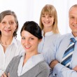 Confident business team smiling portrait — Stock Photo