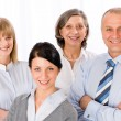 Confident business team smiling portrait — Stock Photo #9036863