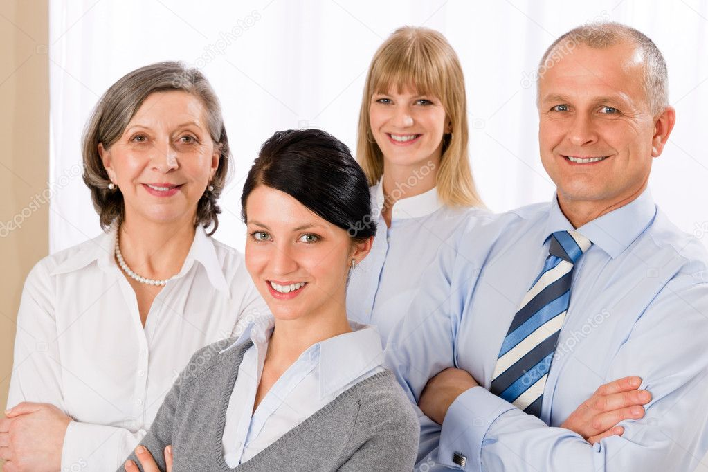 Confident business team smiling portrait successful professionals — Stock Photo #9036859