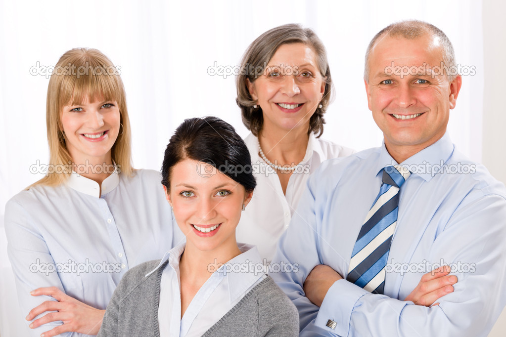 Confident business team smiling portrait successful professionals — Stock Photo #9036863
