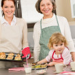 Three generations of women baking in kitchen — Stock Photo #9547901