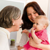 Happy family women - grandmother, mum and baby — Stock Photo