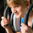 Woman at gym exercise fitness — Stock Photo